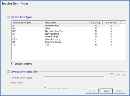 SedonaOffice Help - Types of invoice